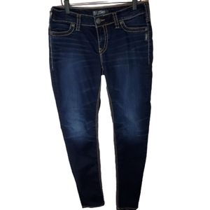 Silver mid super skinny jeans